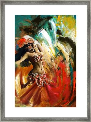 Abstract Belly Dancer 19 Framed Print by Corporate Art Task Force