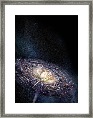 Black Hole Framed Print by Henning Dalhoff