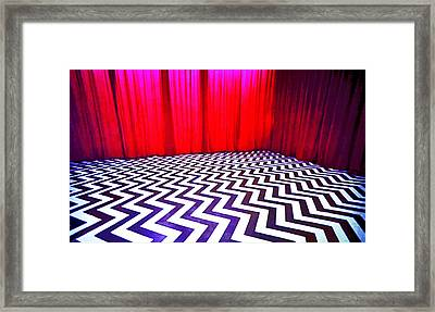 Framed Print featuring the painting Black Lodge by Luis Ludzska