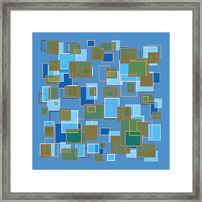 Blue Abstract Framed Print by Frank Tschakert