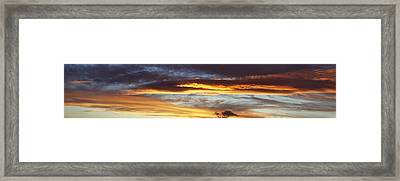 Bright Sky Framed Print by Les Cunliffe