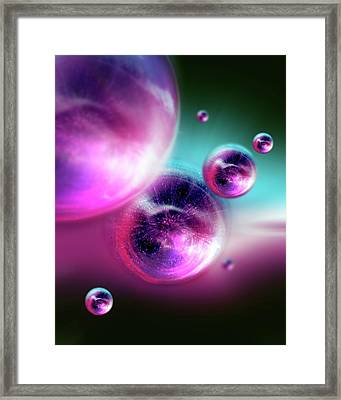Bubble Universes Framed Print