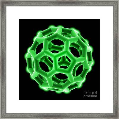 Buckminsterfullerene Molecule Framed Print by Laguna Design