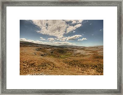 Burren Landscape Framed Print by John Quinn