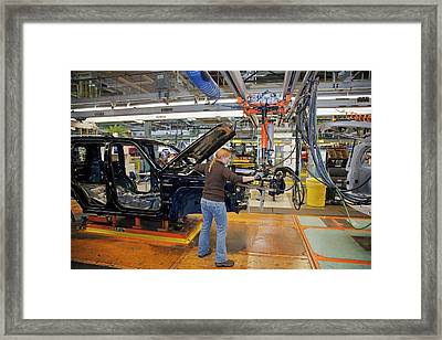 Car Production Assembly Line Framed Print by Jim West