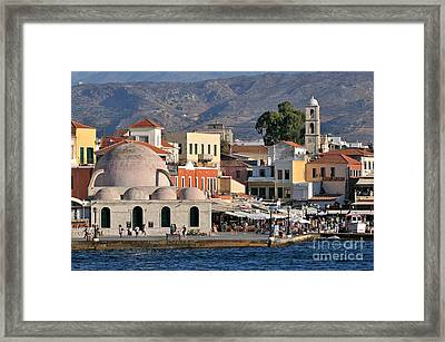 Chania City Framed Print