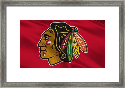 Chicago Blackhawks Uniform Framed Print by Joe Hamilton
