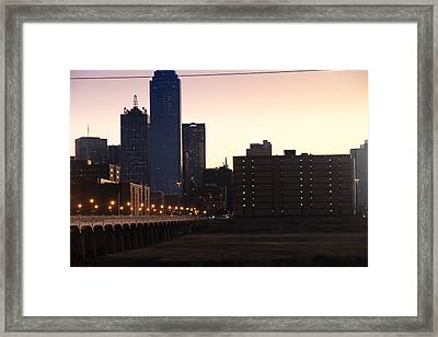 City Of Dallas Framed Print by Tinjoe Mbugus