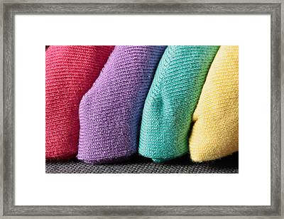 Colorful Fabrics Framed Print by Tom Gowanlock
