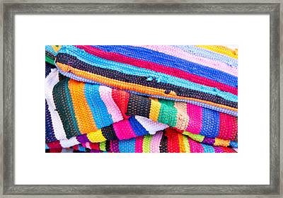 Colorful Textile Framed Print