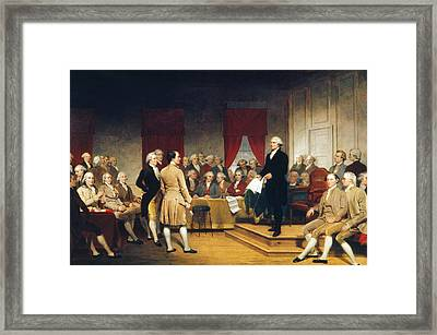 Constitutional Convention Framed Print by Granger