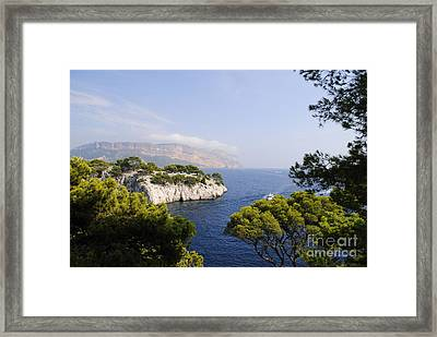 Beautiful View At The Bay On Cote D'azur Framed Print