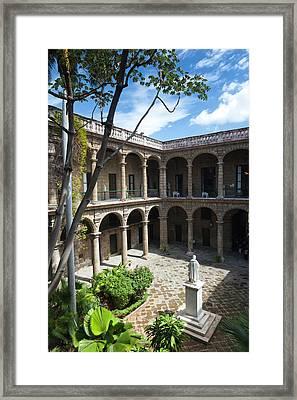 Cuba, Havana, Havana Vieja, Plaza De Framed Print