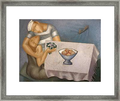 Date Framed Print by Nicolay  Reznichenko