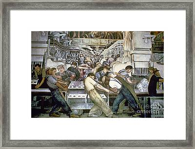 Diego Rivera - Detroit Framed Print