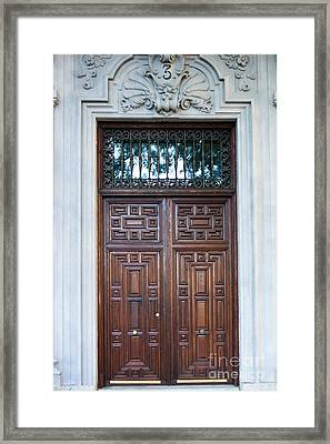 Distinctive Doors In Madrid Spain Framed Print