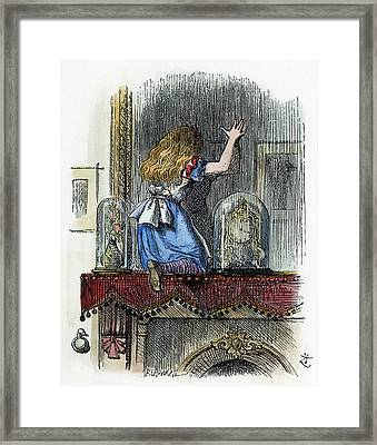 Dodgson Looking Glass Framed Print by Granger