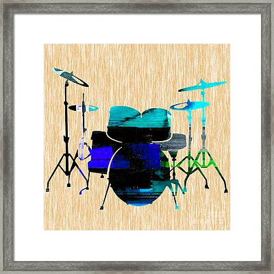 Drums Framed Print by Marvin Blaine
