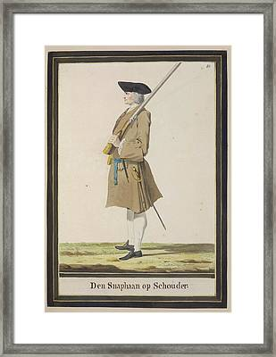 Dutch Military Costurmes And Musket Exerc Framed Print by British Library