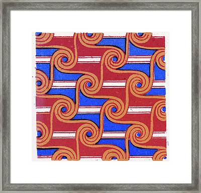 Egyptian Ornament Framed Print by Litz Collection