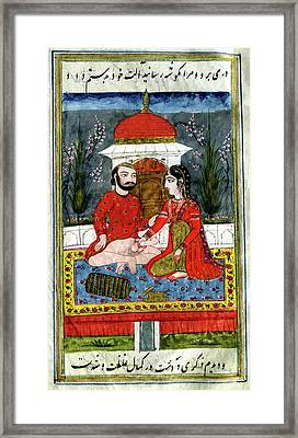 Erotic Indian Story Framed Print by Cci Archives