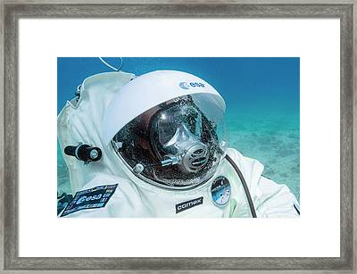 Esa Underwater Astronaut Training Framed Print by Alexis Rosenfeld
