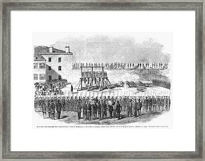 Execution Of Conspirators Framed Print