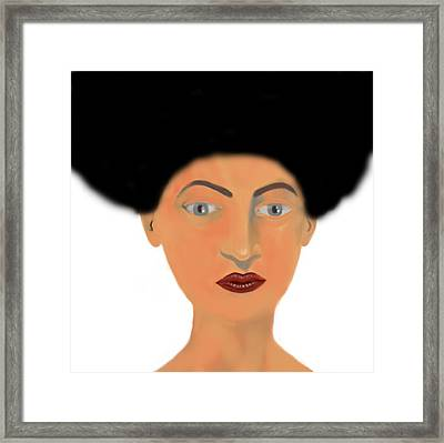 Face Framed Print by Moshfegh Rakhsha