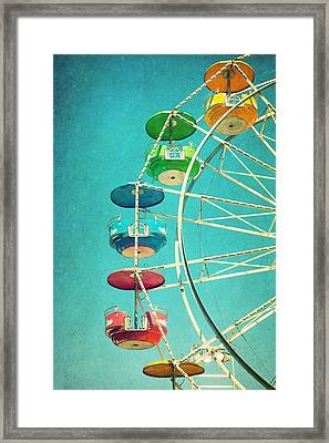 Ferris Wheel Framed Print by June Marie Sobrito