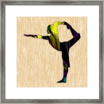 Fitness Yoga Framed Print by Marvin Blaine