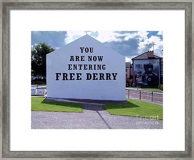 Free Derry Corner 4 Framed Print
