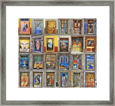 Funchal Door Art Framed Print