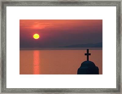 Greece, Mykonos, Hora Framed Print by Jaynes Gallery