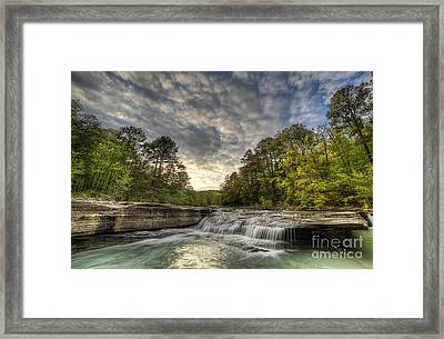 Haw Creek Falls Framed Print by Twenty Two North Photography