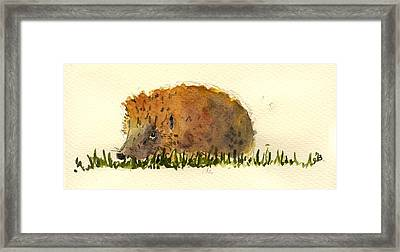 Hedgehog Framed Print by Juan  Bosco