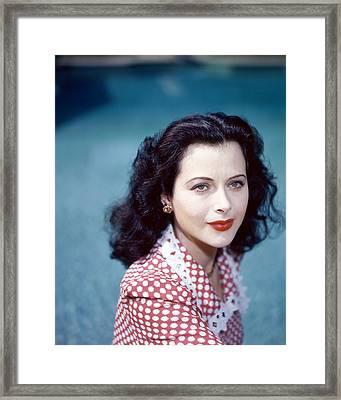 Hedy Lamarr Framed Print by Silver Screen