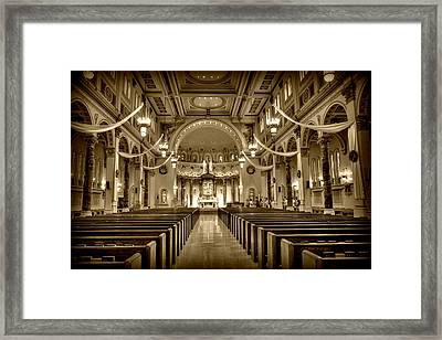 Holy Cross Catholic Church Framed Print by Amanda Stadther