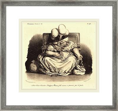 Honoré Daumier French, 1808-1879 Framed Print by Litz Collection