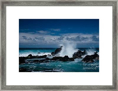 Hookipa Maui North Shore Hawaii Framed Print