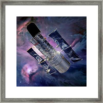 Hubble Space Telescope Framed Print