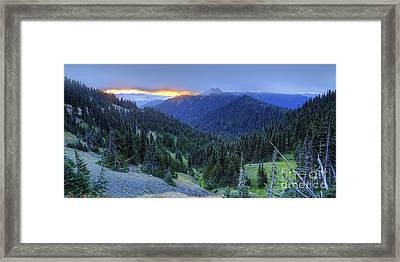 Hurricane Ridge Framed Print