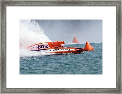 Hydroplane Racing Framed Print