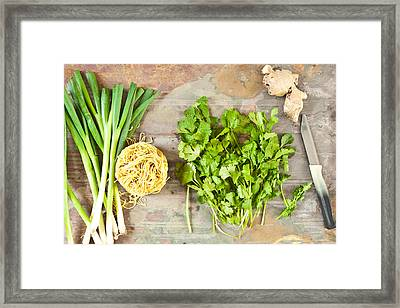 Ingredients Framed Print
