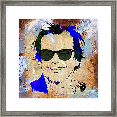 Jack Nicholson Collection Framed Print by Marvin Blaine