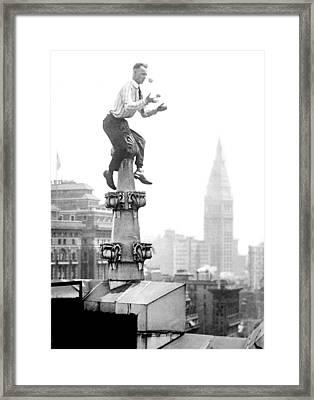Jammie Reynolds, American Daredevil Framed Print