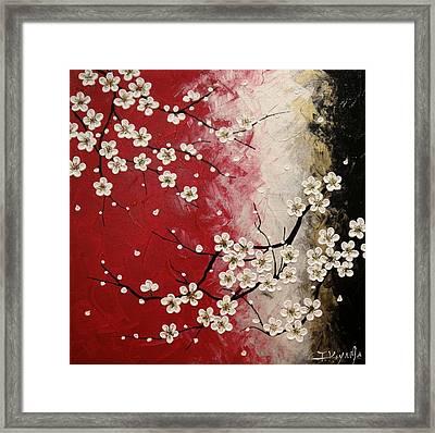 Japanese Plum Blossoms Framed Print by Tomoko Koyama