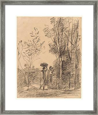 Jean-baptiste-camille Corot French, 1796 - 1875 Framed Print by Litz Collection