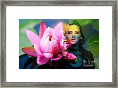 Jennifer Lawrence Framed Print by Marvin Blaine