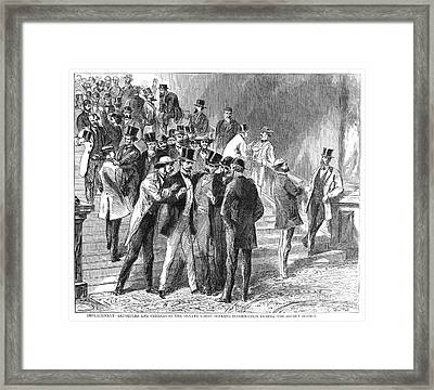 Johnson Impeachment, 1868 Framed Print