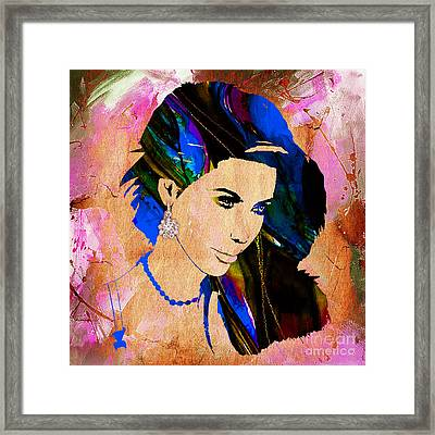 Kim Kardashian Collection Framed Print by Marvin Blaine